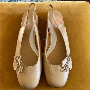 NATURALIZER Tan Flat Slingback Shoes Size 10 N